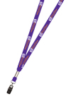 "3/8"" Two Color Printed Lanyard (Dual Sided)"