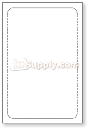 Teslin File Card (Jumbo) 1-up - Inkjet