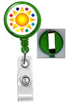 Translucent Badge Reel w/ Custom Logo