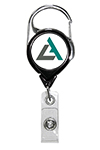 No-Twist Carabiner Badge Reel w/ Custom Logo