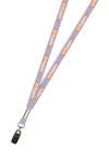 "3/8"" Two Color Print Lanyard (Dual Sided)"