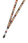 "3/8"" Full Color Print Lanyard (Dual Sided)"