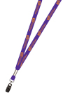 "3/8"" One Color Printed Lanyard"