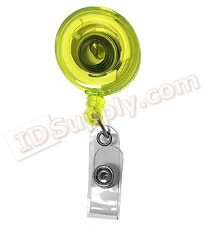 Neon Yellow Translucent Badge Reel