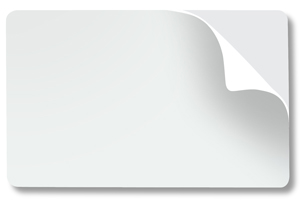 CC10-PSA White Card with Adhesive Back