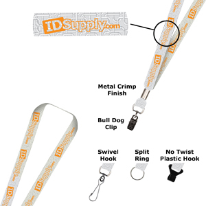 "3/4"" Two Color Print Lanyard (Dual Sided)"
