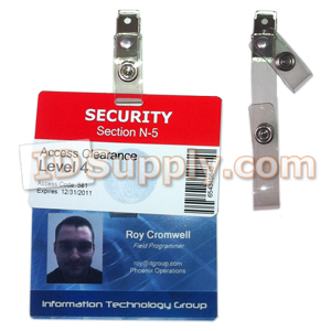 Economy Dual ID Badge Clips